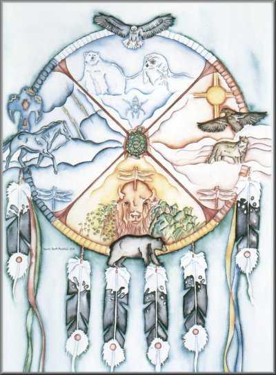 Fabuleux Symboles du chamanisme Amérindien : Les animaux VR24